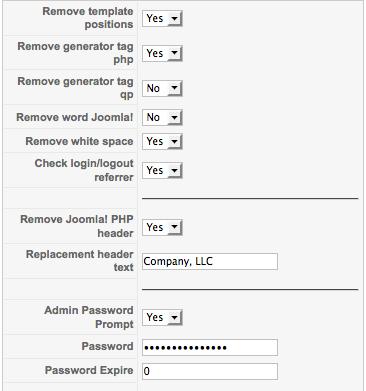 jomDefender parameters