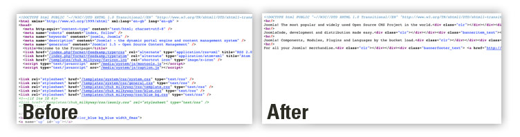jomDefender remove white space in HTML.