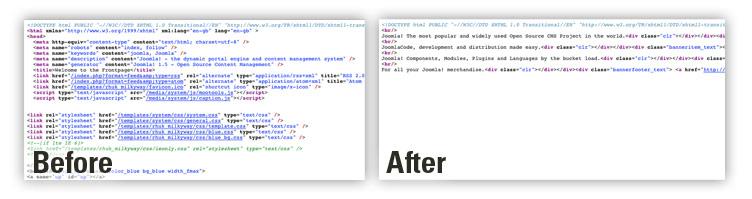 jomDefender remove white space in HTML.