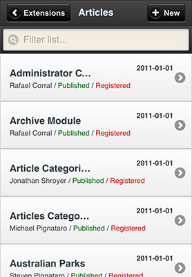 jomMobile Article Manager