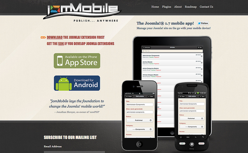 jomMobile.com Website